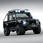 Land Rover Defender Bigfoot. Spectre © 2015 Danjaq, LLC and United Artists Corporation. All rights reserved.